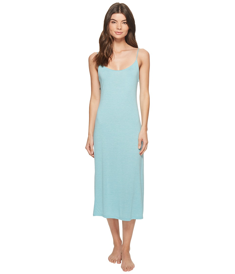 Natori - Shangri-La Gown (Heather Turquoise) Women's Pajama