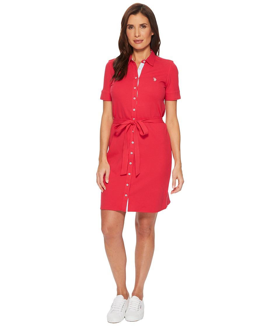 U.S. POLO ASSN. Full Packet Dress (Virtual Pink) Women