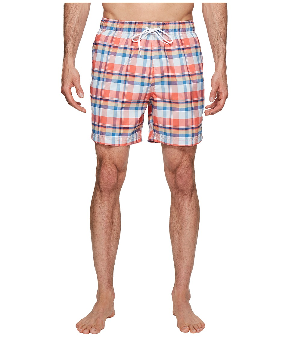 Nautica Coastal Beach Madras Swim Shorts (Spiced Corl) Men