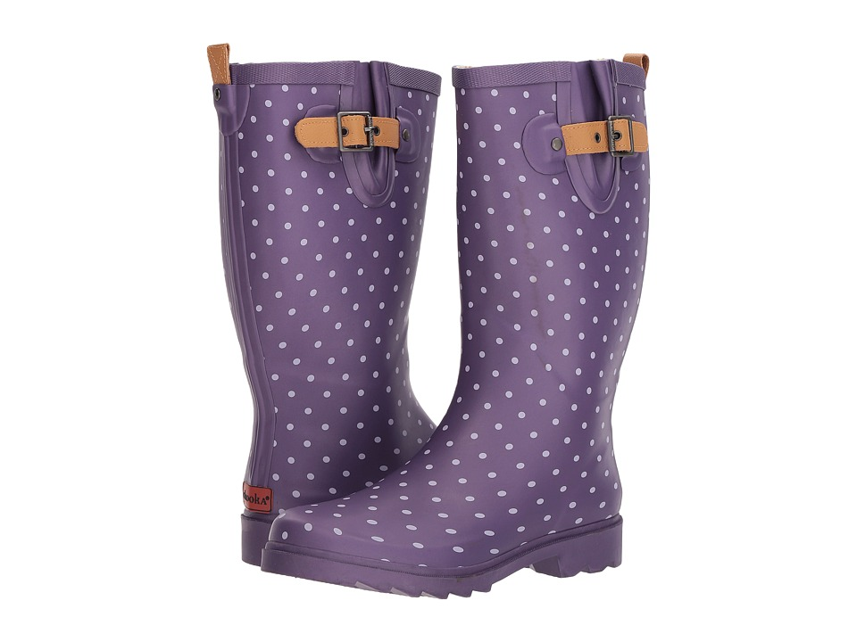 Chooka Printed Rain Boots (Eggplant) Women