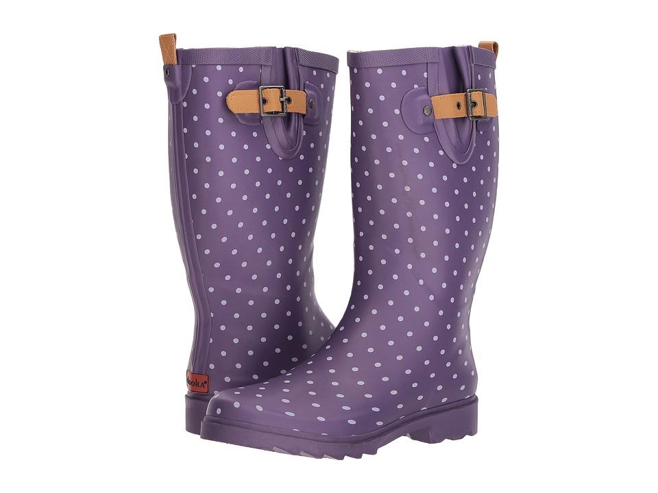 Chooka Printed Rain Boots (Eggplant) Women