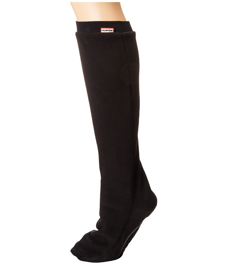 Hunter Original Tall Boot Sock Fitted Fleece (Black) Knee High Socks Shoes