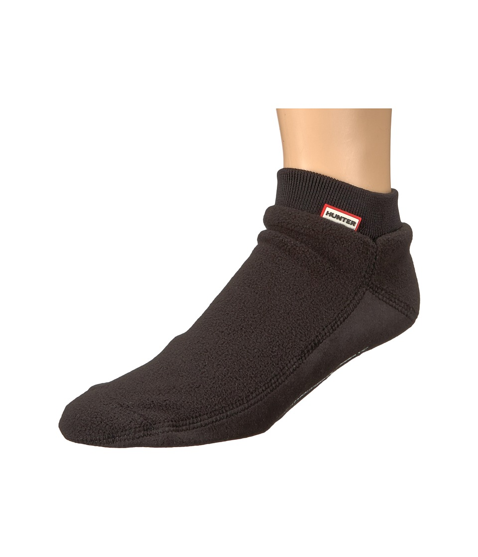 Hunter Original Ankle Boot Sock Fitted Fleece (Black) Knee High Socks Shoes