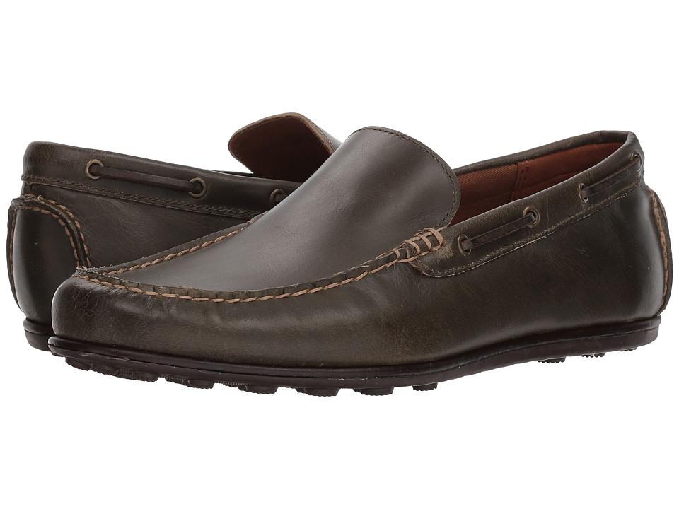 Frye Driving Moc Plain (Olive Leather) Men