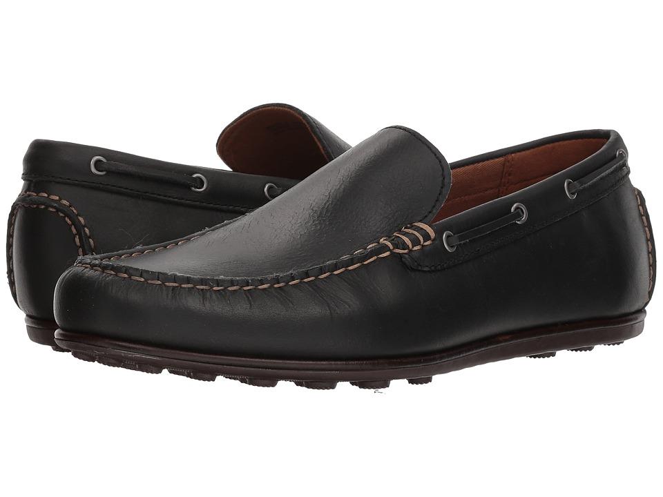 Frye Driving Moc Plain (Black Leather) Men