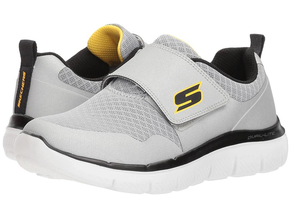 SKECHERS KIDS Flex Advantage 2.0-Gurn (Little Kid/Big Kid) (Silver/Black) Boys Shoes