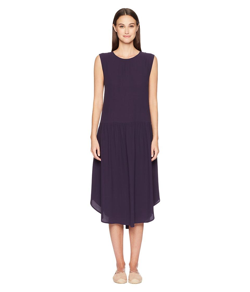 Eileen Fisher Silk Georgette Drop-Waist Dress (Salt Lake) Women