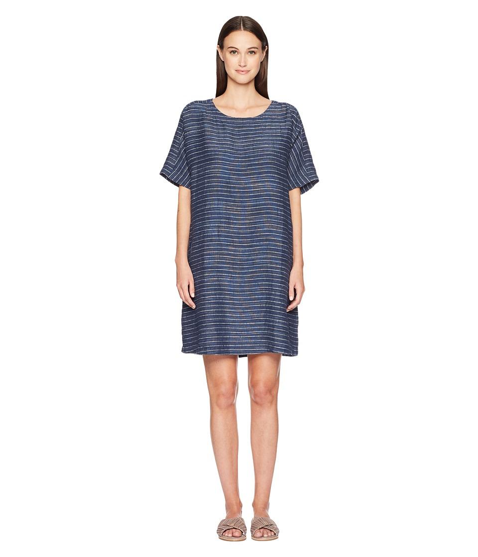 Eileen Fisher Scoop Neck Tunic Dress (Denim) Women