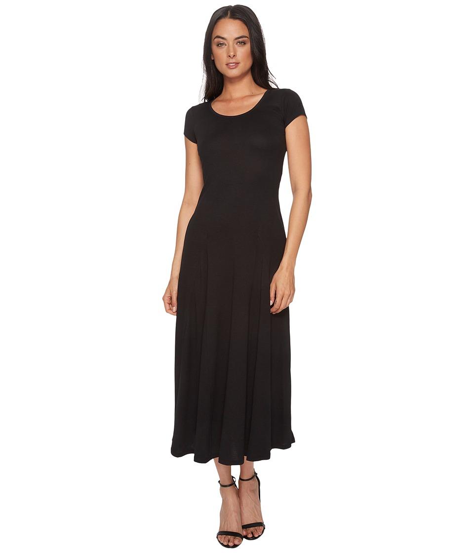LAUREN Ralph Lauren Jersey Scoop Neck Maxi Dress (Polo Black) Women