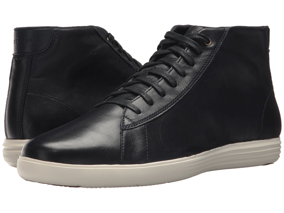 Cole Haan Grand Crosscourt High Top (Navy Leather) Men