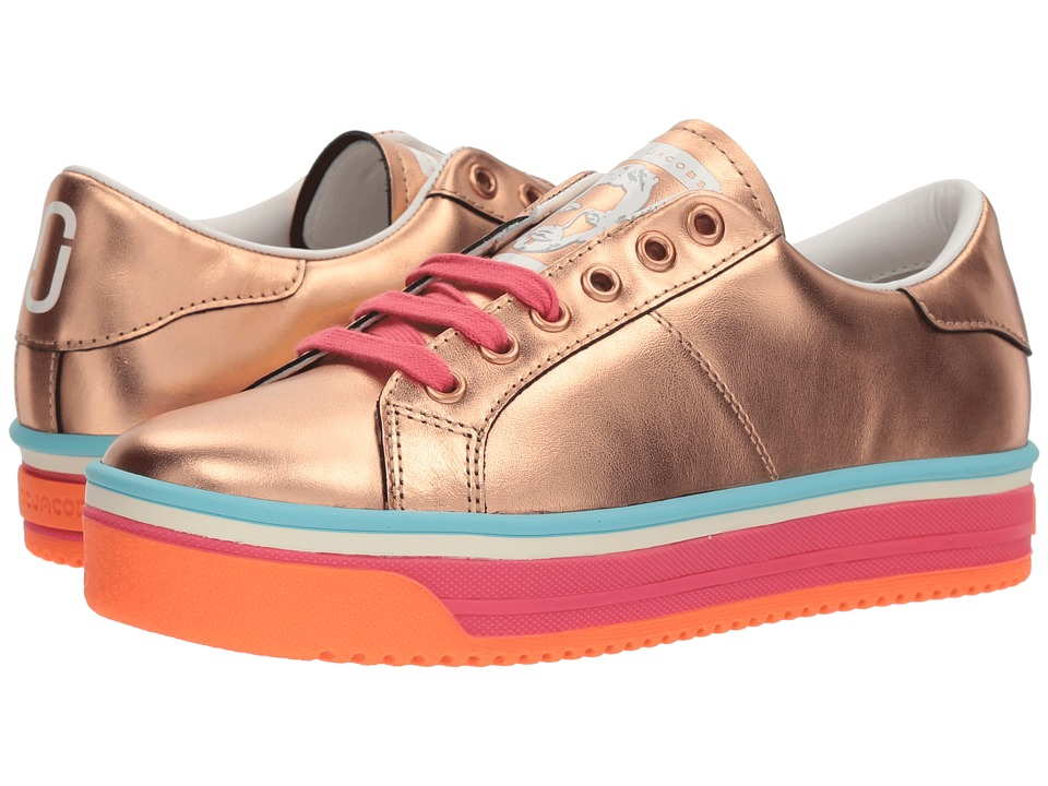 Marc Jacobs Empire Multicolor Sole Sneaker (Rose Gold/Hot Pink Multi) Women
