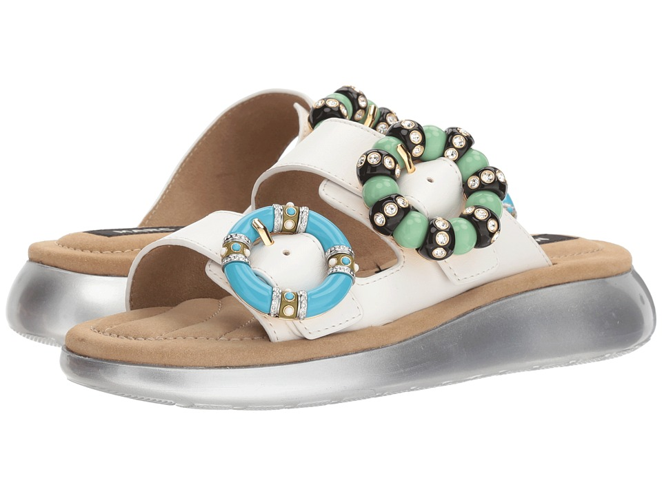 Marc Jacobs Sage Embellished Sandal (Ivory) Women