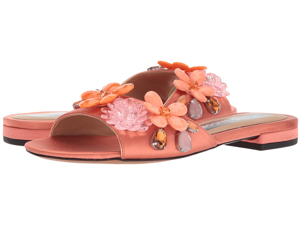 Marc Jacobs Clara Embellished Slide (Salmon) Women