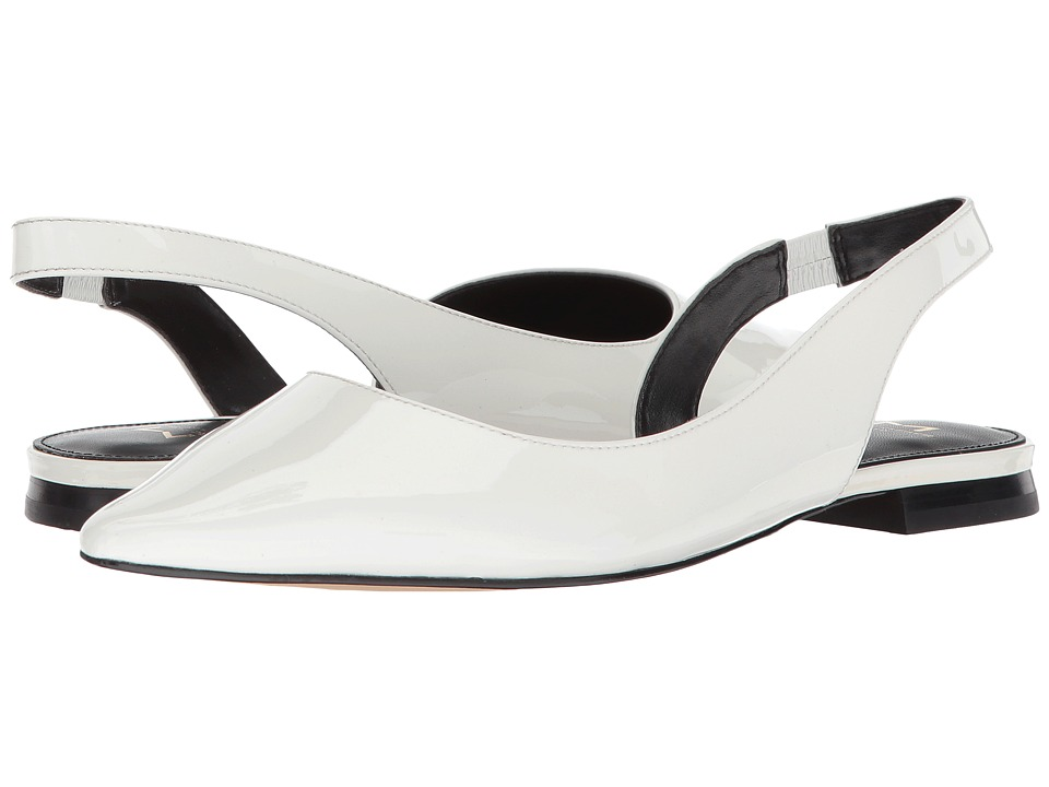 Marc Fisher LTD Sessily (True White/White/New Patent Leather) Women