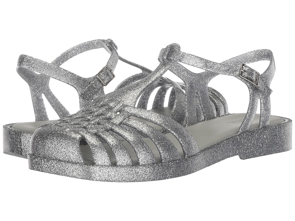 Melissa Shoes Aranha Quadrada (Silver Glass Glitter) Women