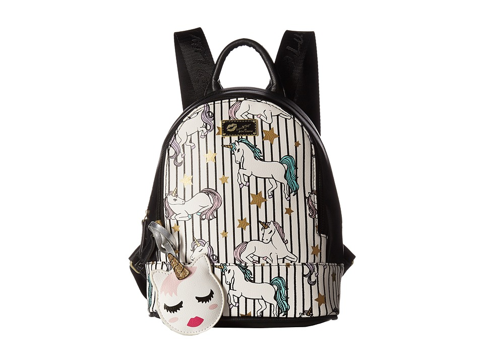 Luv Betsey Jaz Mid Size PVC Backpack (Animal Multi) Backpack Bags