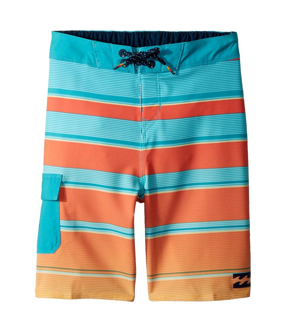 Billabong Kids All Day X Stripe Boardshorts (Toddler/Little Kids) (Mint) Boy