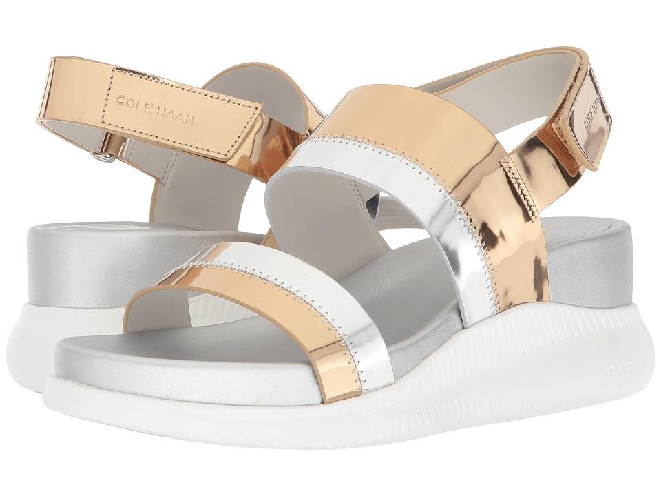Cole Haan 2.Zerogrand Slide Sandal (Ch Gold Metallic/Ch Argento Metallic Specchio/Optic White) Women