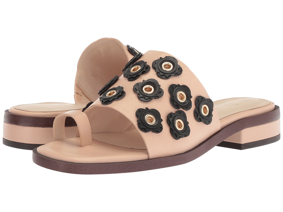 Cole Haan Carly Floral Sandal (Nude/Black Leather) Women