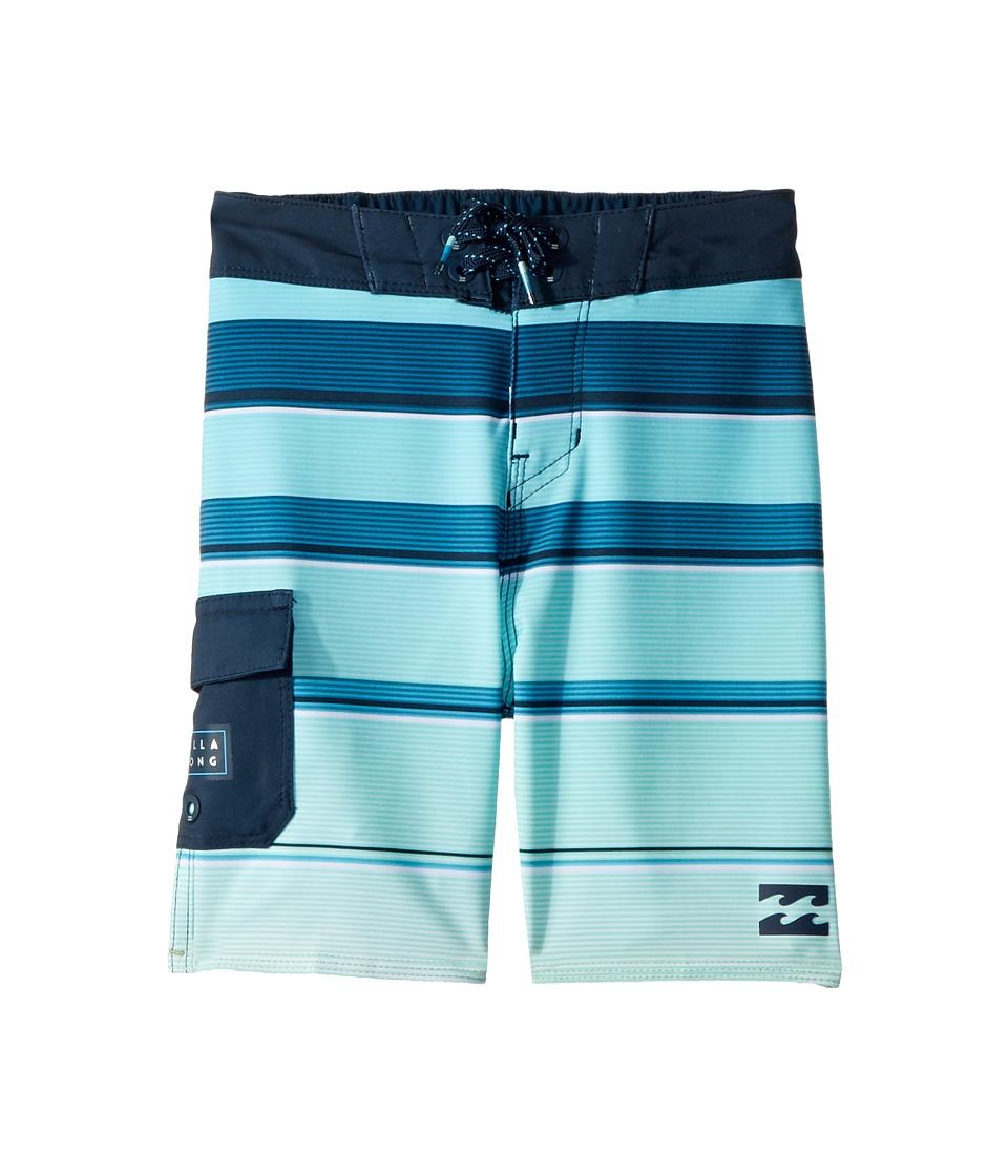 Billabong Kids All Day X Stripe Boardshorts (Toddler/Little Kids) (Green) Boy