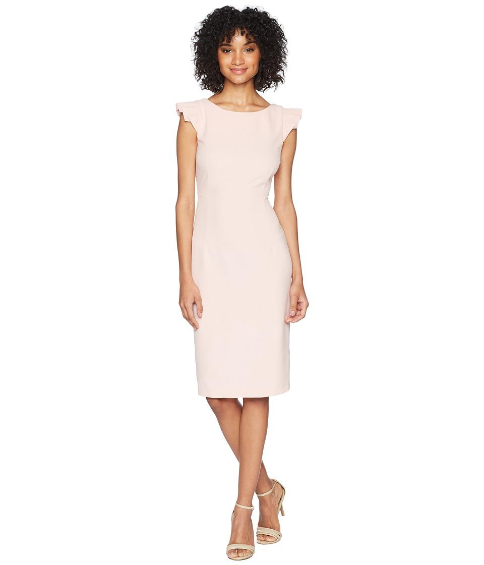 Taylor Cap Sleeve Solid Sheath Dress (Blush) Women