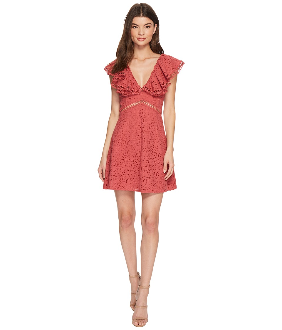 KEEPSAKE THE LABEL Unravelled Mini Dress (Mineral Red) Women
