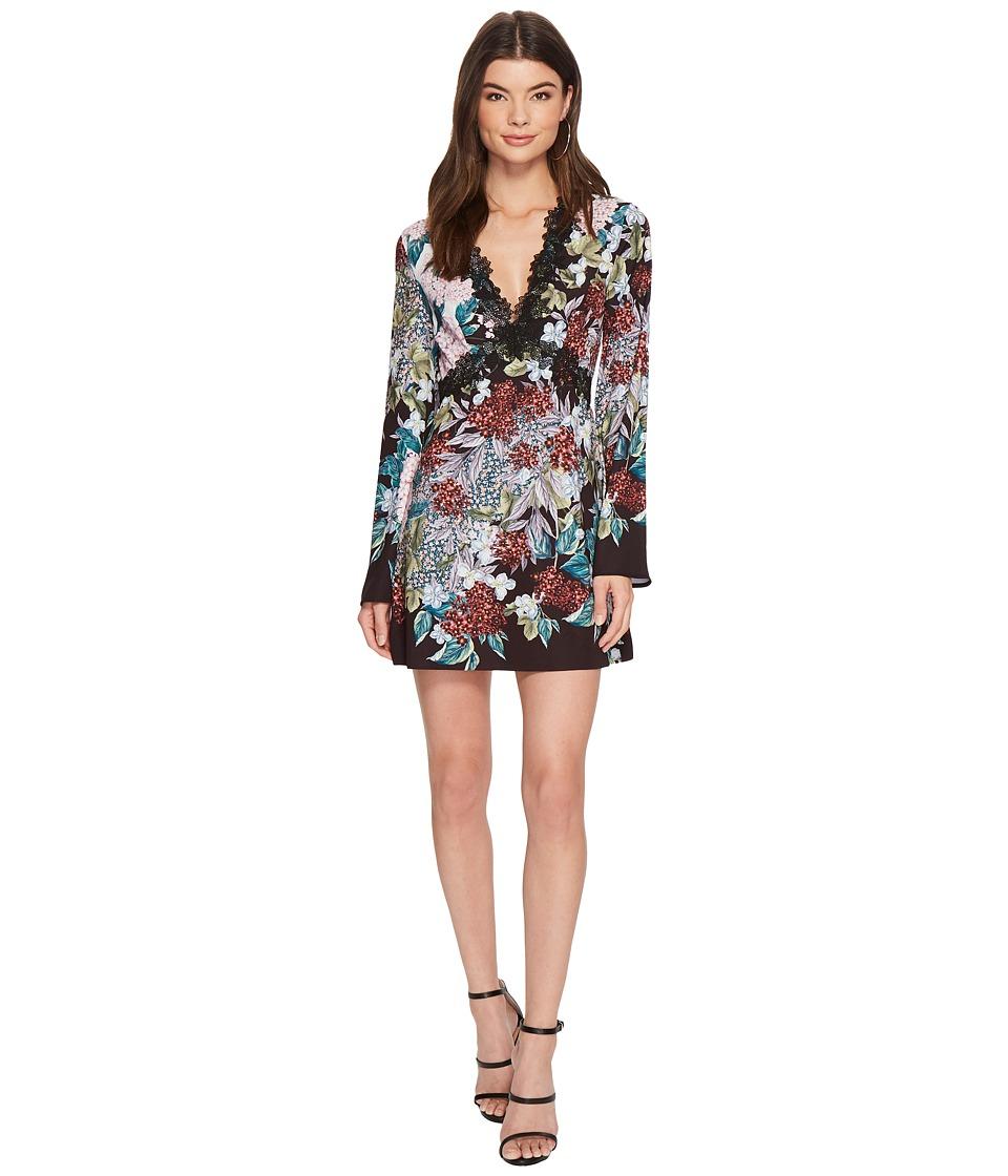 KEEPSAKE THE LABEL Lost Dreams Long Sleeve Mini Dress (Multi Floral) Women