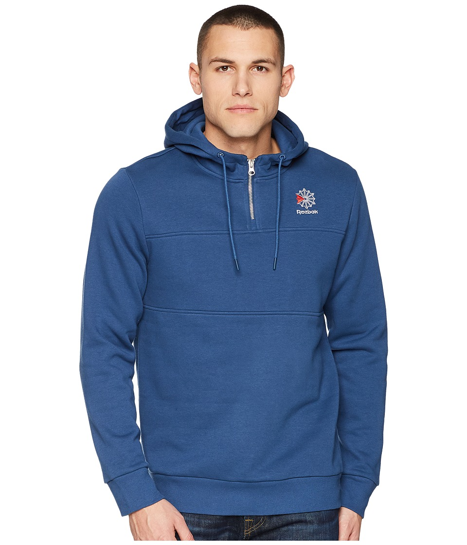 Reebok SMU 1/4 Zip Crew Sweatshirt (Blue) Men
