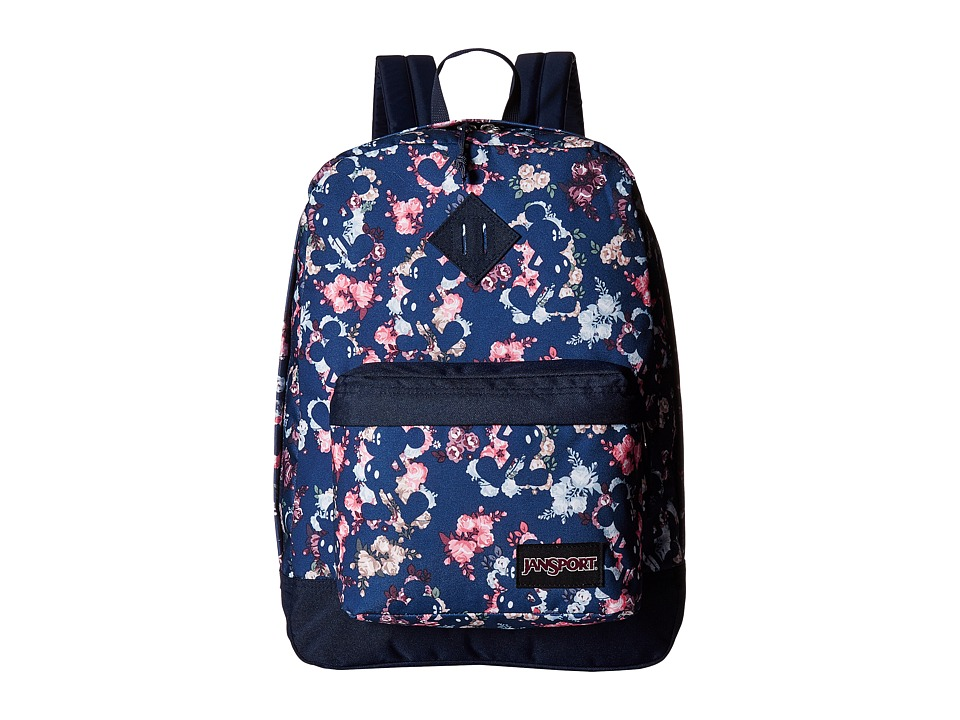 JanSport Disney Super FX (Disney Mickey Floral) Backpack Bags