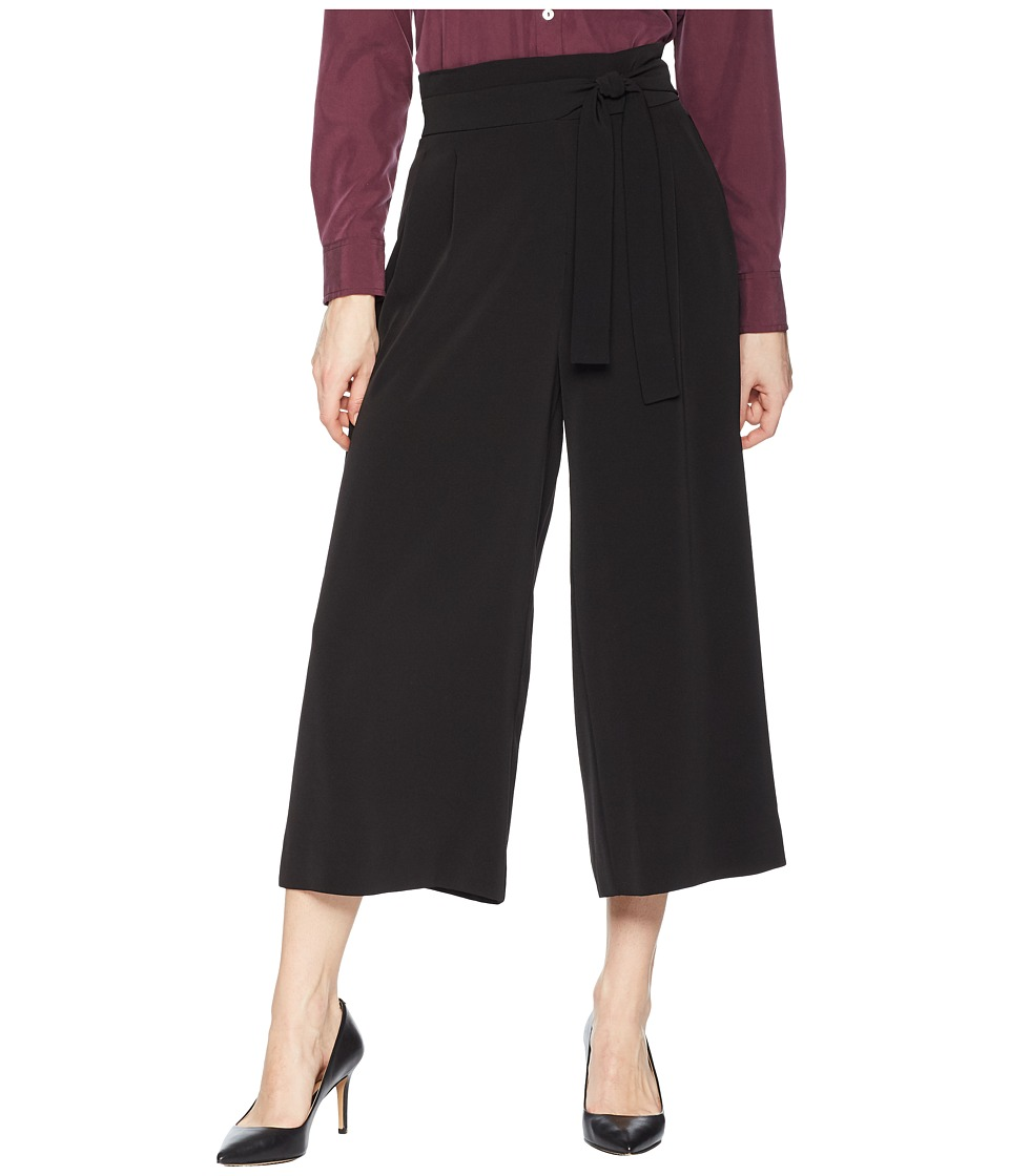 Anne Klein Belted Cropped Trousers (Black) Women