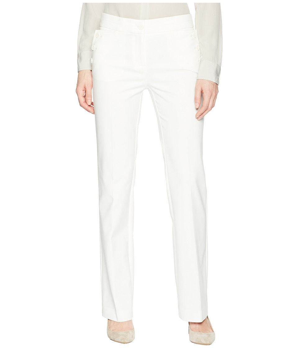 Anne Klein Flare Leg Pants (White) Women