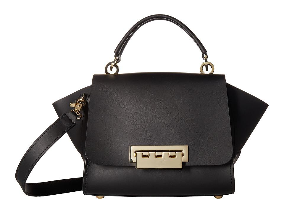 ZAC Zac Posen - Top-Handle Crossbody with Floral Strap (Black) Cross Body Handbags