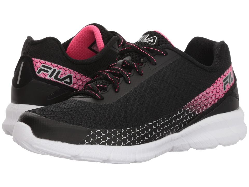 Fila Memory Decimal Running (Black/Knockout Pink/Metallic Silver) Women