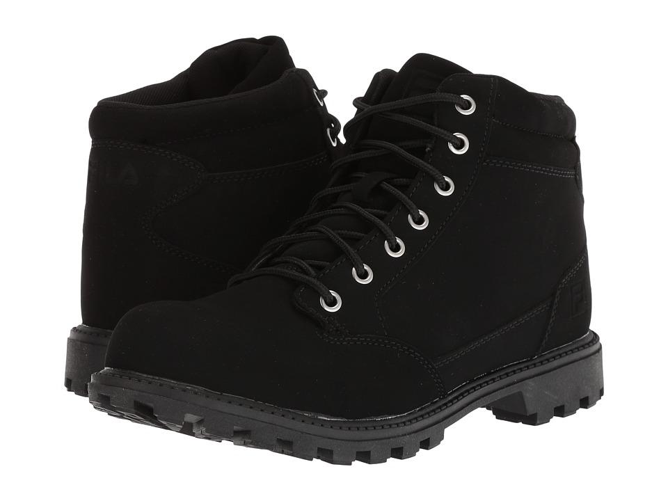 Fila Nycon Boot (Black/Black/Metallic Silver) Men