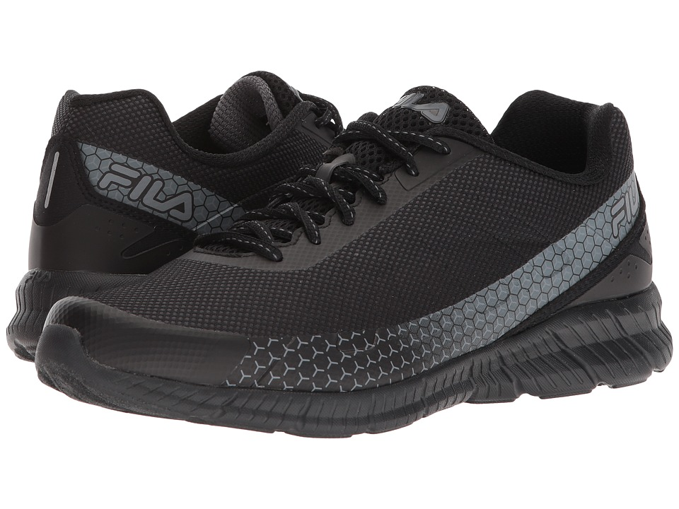Fila Memory Decimal Running (Black/Castlerock/Metallic Silver) Men's Shoes