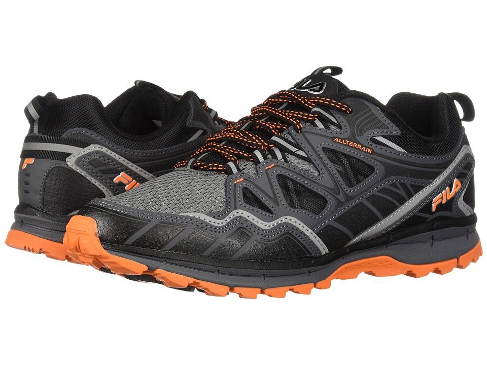 Fila Memory Tko Tr 5.0 Trail (Castlerock/Dark Shadow/Vibrant Orange) Men