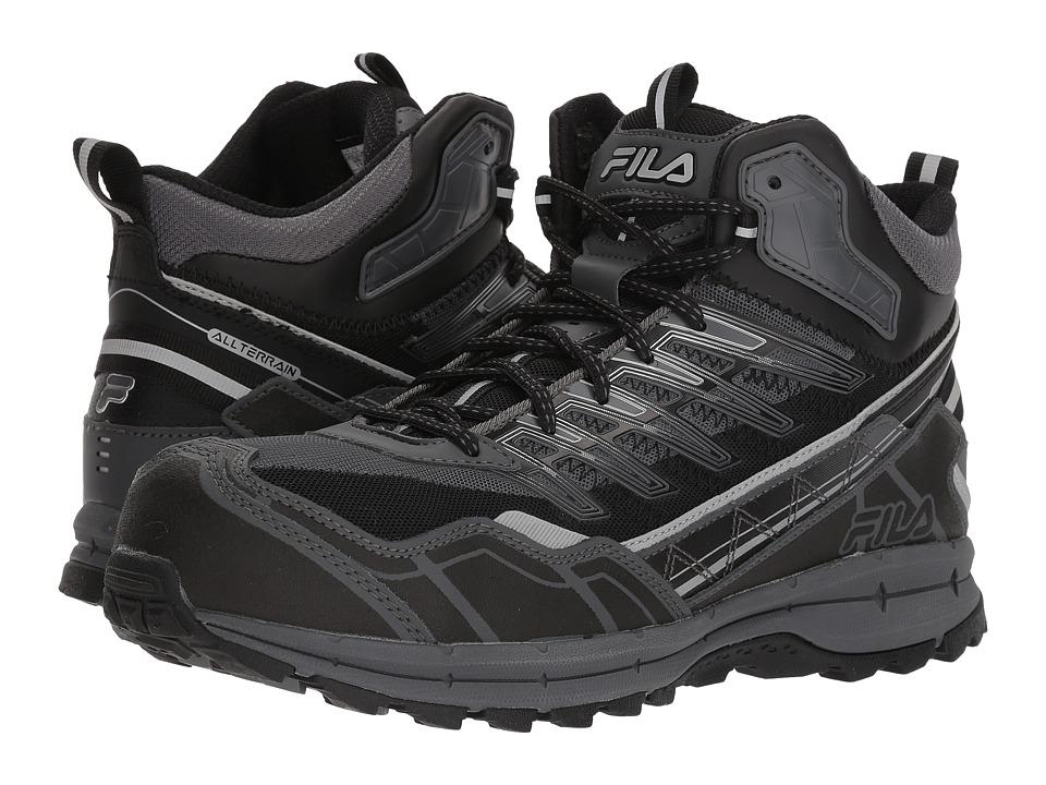 Fila Hail Storm 3 Mid Composite Toe Trail (Castlerock/Black/Metallic Silver) Men