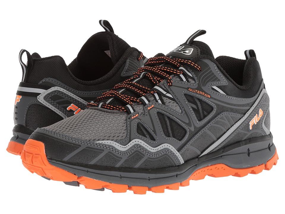 Fila Memory Tko Tr 5.0 Trail (Castlerock/Dark Shadow/Vibrant Orange 1) Men