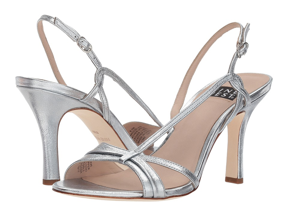 Nine West Accolia 40th Anniversary Heeled Sandal (Silver Metallic) Women
