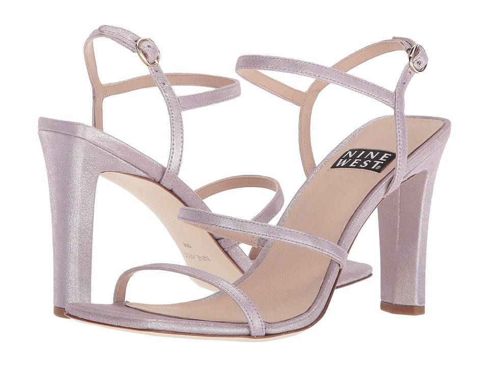 Nine West Gabelle 40th Anniversary Strappy Heeled Sandal (Light Purple Metallic) Women