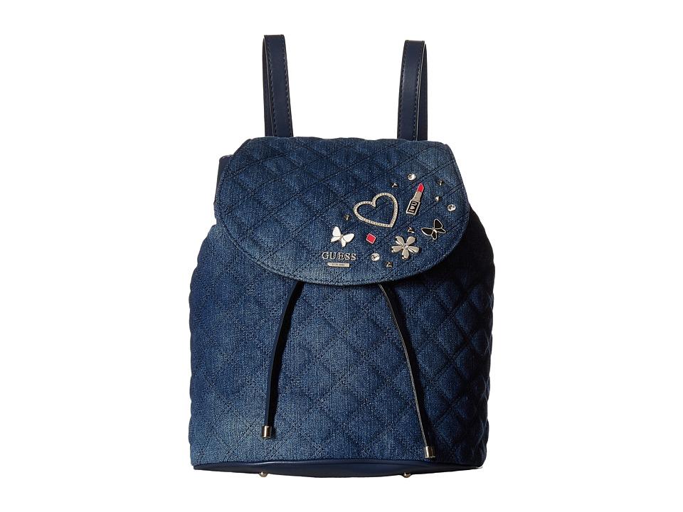 GUESS Darin Backpack (Denim) Backpack Bags