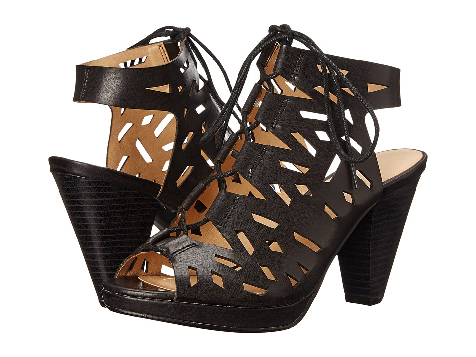 CL By Laundry Whizz (Black Burnished) High Heels