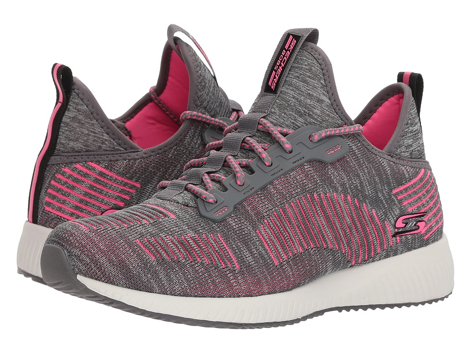 BOBS from SKECHERS Bobs Squad Catch Us (Gray/Pink) Women