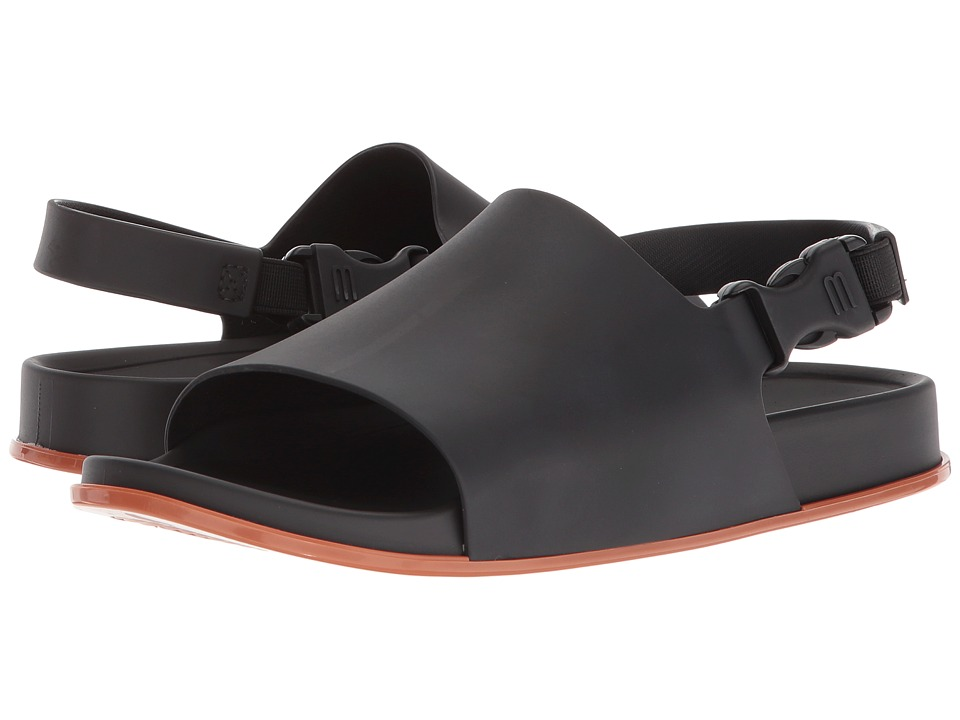 Melissa Shoes Beach Slide Sandal (Black/Brown) Women