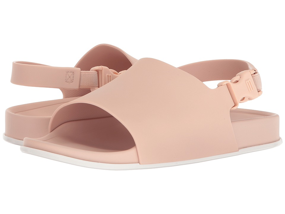 Melissa Shoes Beach Slide Sandal (Pink/White) Women