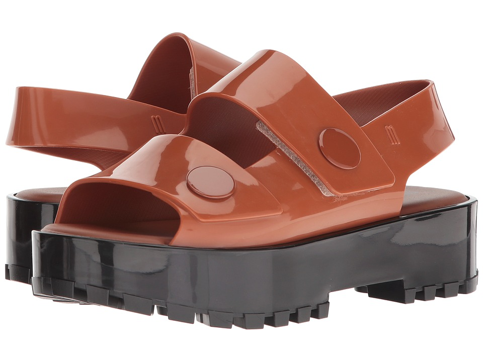 Melissa Shoes Strap Sandal (Brown/Black) Women