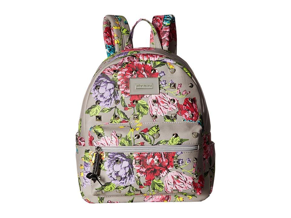 Betsey Johnson Backpack (Grey Multi) Backpack Bags