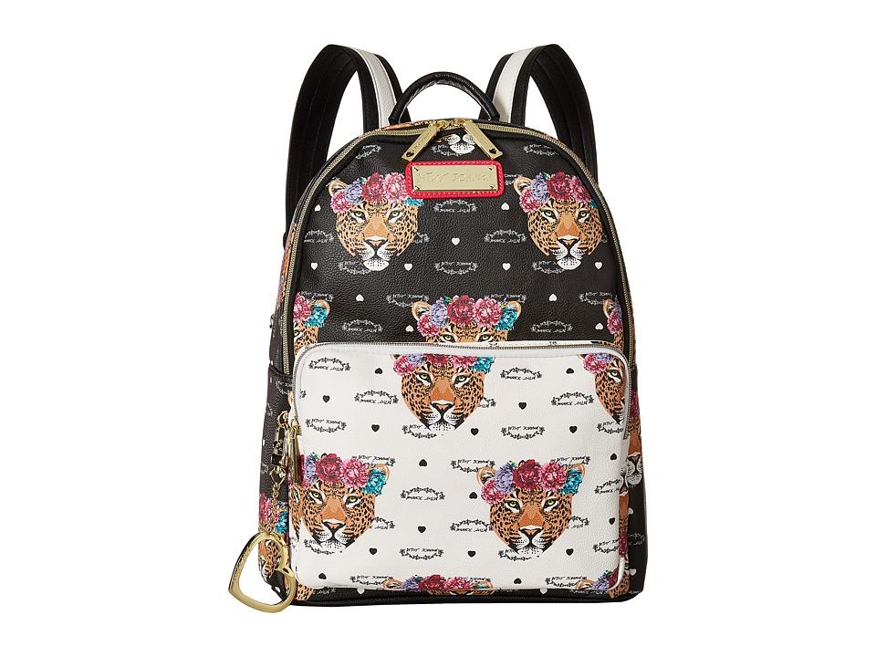 Betsey Johnson Jungle Backpack (Black/Bone) Backpack Bags