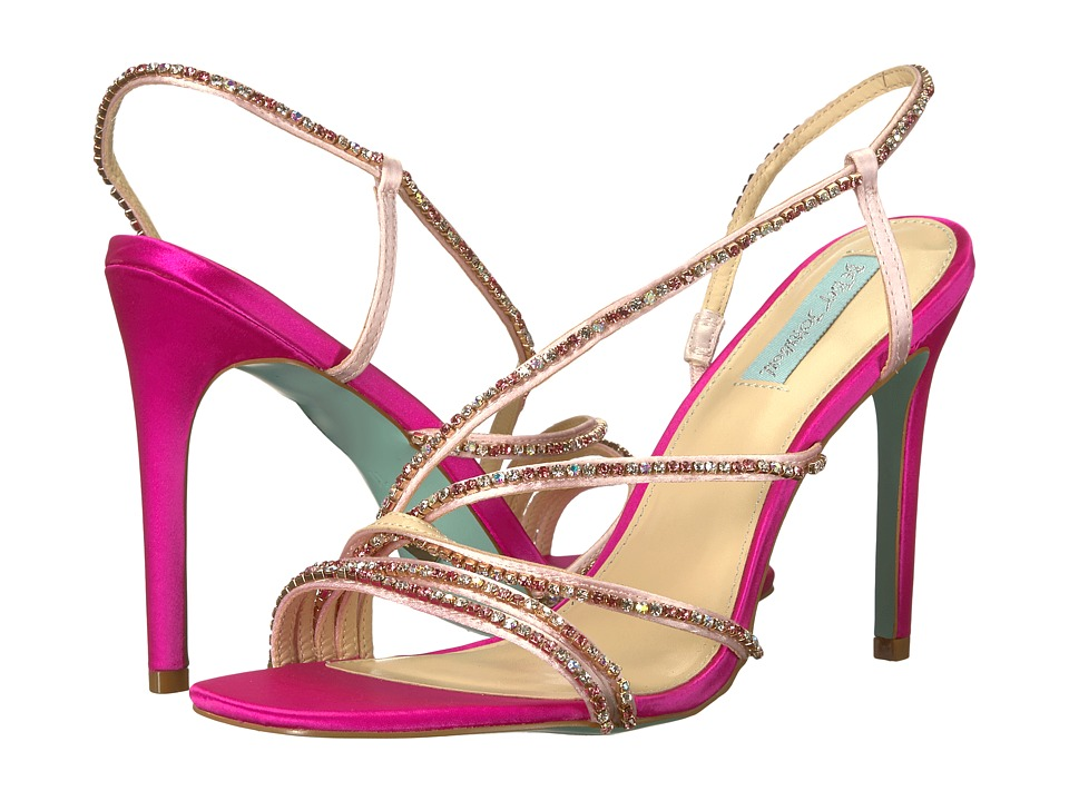 Blue by Betsey Johnson Aces (Fuschia Satin) High Heels