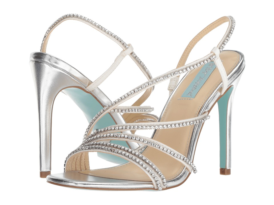 Blue by Betsey Johnson Aces (Silver Metallic) High Heels